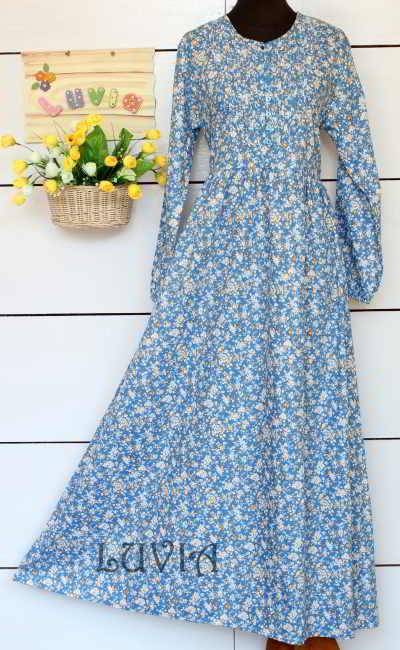 Model Gamis Katun Jepang Murah Terbaru 2015
