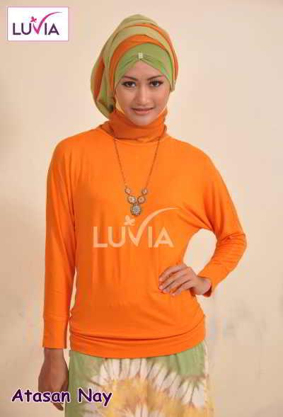 Model Kaos Baju Atasan Muslimah
