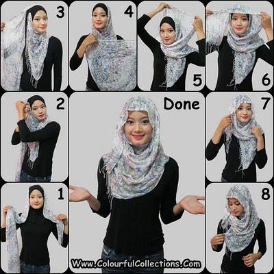 Cara Menggunakan Jilbab Selendang Terbaru