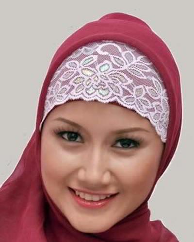 Cara Membuat Bandana Jilbab